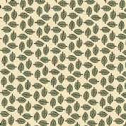 Inprint Indian Spice Market - 4518 - Green Leaf Print on Cream - 2020 Q30 - Cotton Fabric